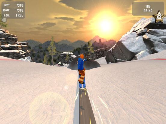 Crazy Snowboard iPad Screenshot 3