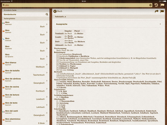 German BigDict iPad Screenshot 2