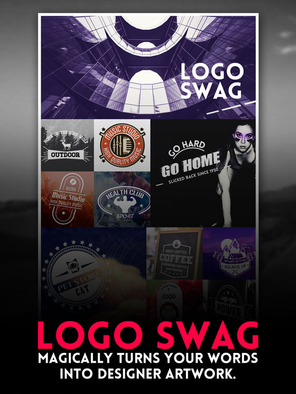 Logo Swag - Instant generator for logos, flyer, poster & invitation design Screenshots