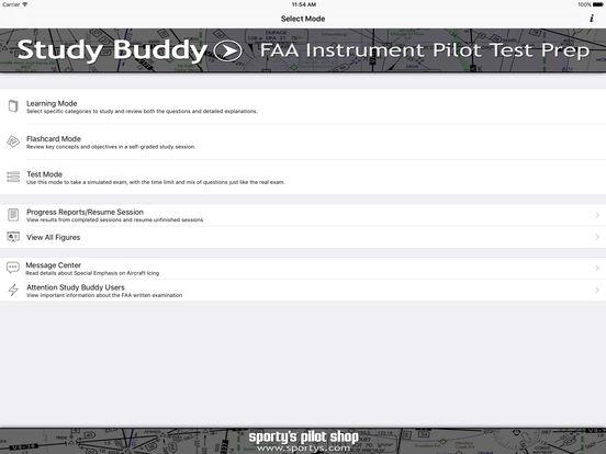 Study Buddy Test Prep (FAA Instrument Pilot) iPad Screenshot 1