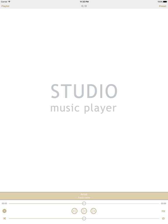 Studio Music Player. Скрин 1