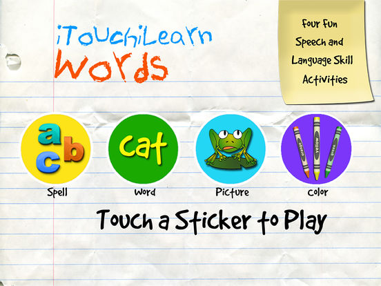iTouchiLearn Words for Preschool Kids Letters, Spelling & Puzzles iPad Screenshot 2