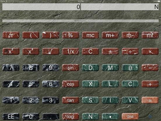 Roman Calculator iPad Screenshot 1