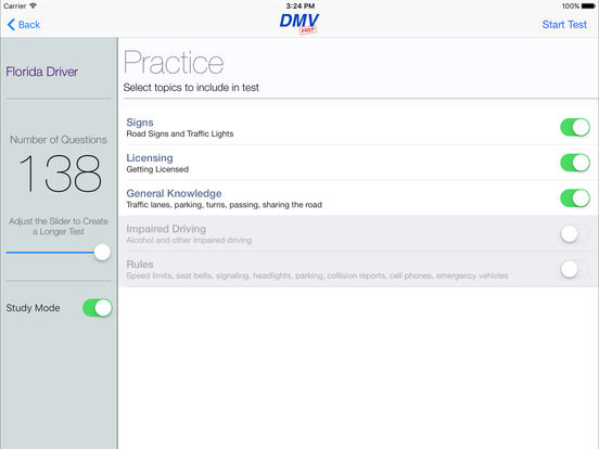 DMV Test Prep - Florida iPad Screenshot 2