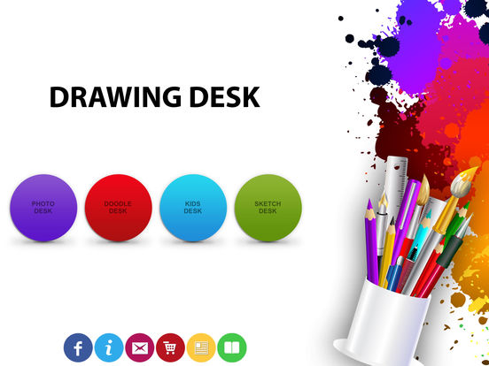 Screenshots of Drawing Desk - Draw, Paint, Doodle & Sketch board for iPad