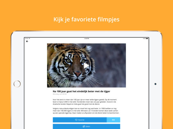 NOS Jeugdjournaal iPad Screenshot 2