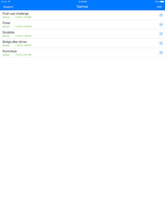 Scoring - Scorer For Sport, Table, Card Games Screenshots
