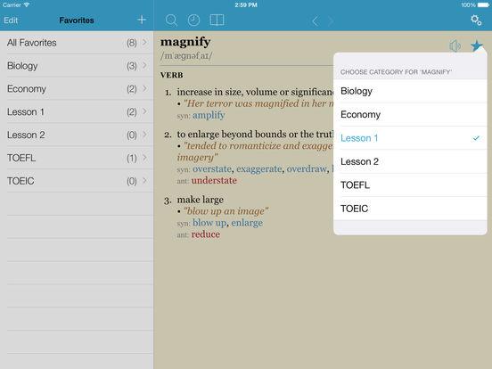 LexicEN English Dictionary & Thesaurus iPad Screenshot 4
