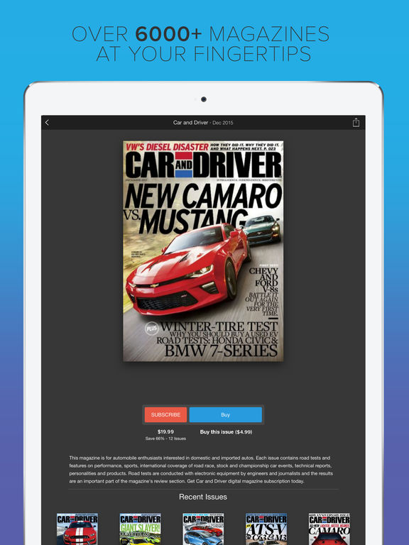 Screenshots of Zinio - The World's Magazine Newsstand for iPad