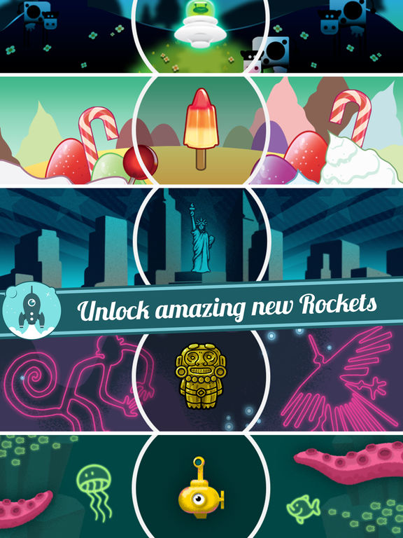 Screenshots of Let's Go Rocket - Ultimate Endless Space Adventure for iPad