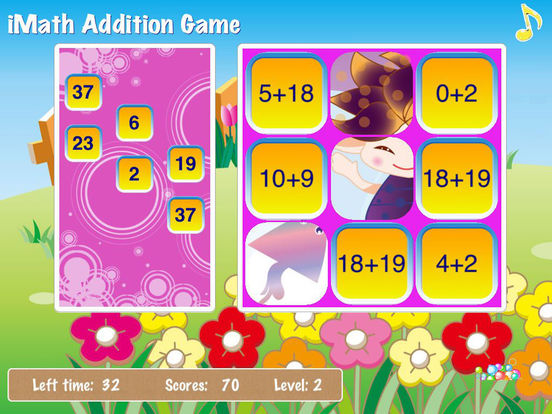 iMath Addition Game iPad Screenshot 2