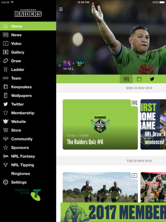 Official Canberra Raiders On The App Store