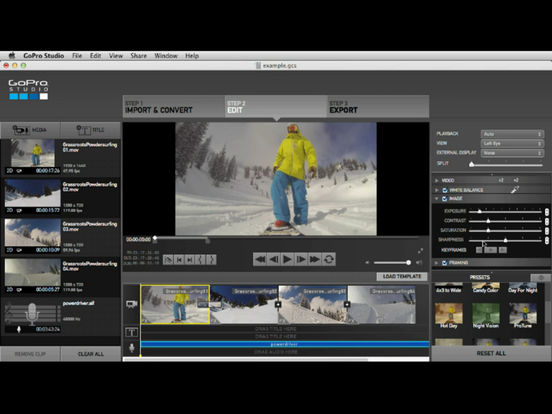 App shopper control for gopro studio productivity for Gopro studio templates download
