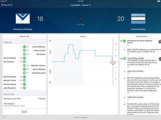 NRL Rugby League Live HD 2011 iPad Screenshot 2