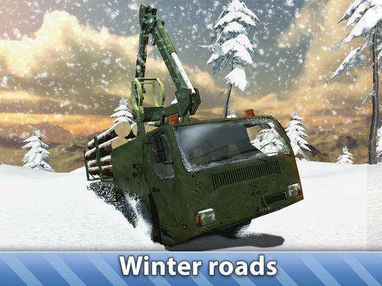 Winter Logging Truck Simulator 3D Full для iPad