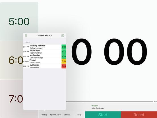 Speech Timer Free iPad Screenshot 4