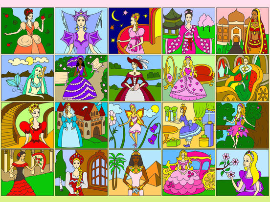 Раскрась по номерам - Принцессы
