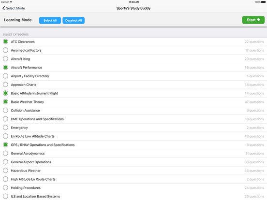 Study Buddy Test Prep (FAA Instrument Pilot) iPad Screenshot 2