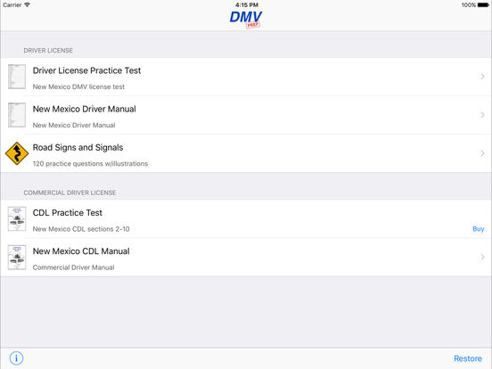 DMV Test Prep - New Mexico iPad Screenshot 1