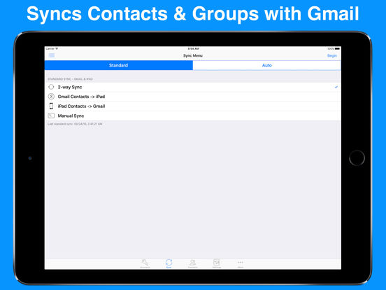 Contacts Sync With Groups For Gmail iPad Screenshot 1