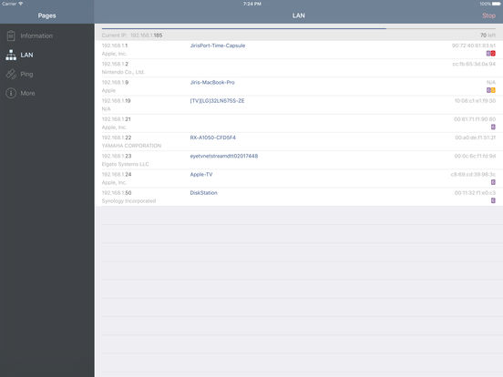 Network Analyzer Lite - wifi scanner, ping & net info screenshot
