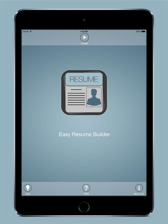ipad screenshot 1 - Resume Builder App