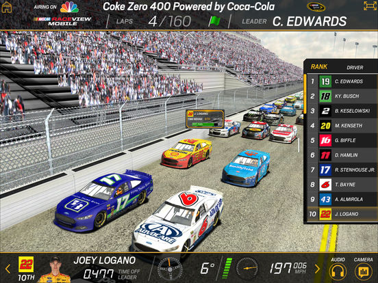 NASCAR RACEVIEW MOBILE screenshot