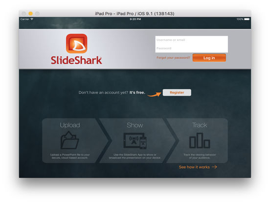 SlideShark Presentation App screenshot