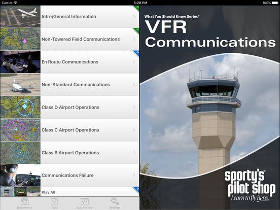 VFR Pilot Communications iPad Screenshot 1