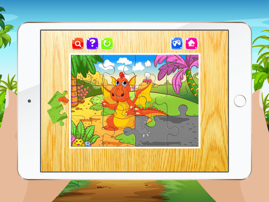 Мультфильм Дракон Пазлы для детей - Детский сад Обучение Игры Бесплатно Скриншоты6