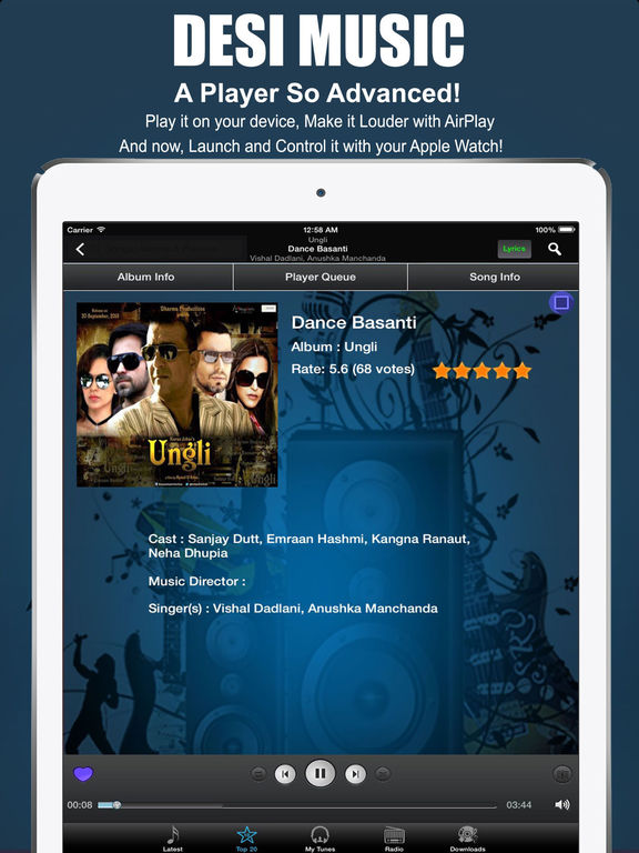 Desi Music: Bollywood Hindi Songs, Radio & Lyrics Screenshots