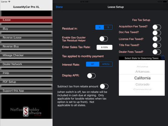 iLeaseMyCar Pro XL Lease and Loan Calculator iPad Screenshot 2