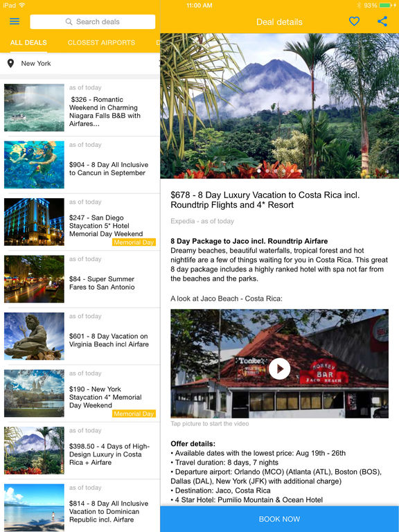 Vacation Deals - Flights - Cruises - Hotels by TravelDeals24 screenshot