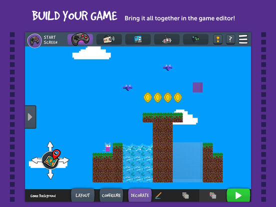 Bloxels build play share your own video games on the Iplan app