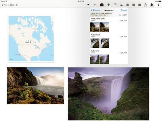Travel iBlog HD Screenshots