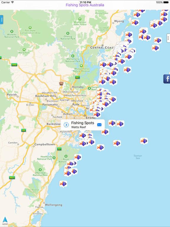 Fishing spots australia on the app store for Fishing spots app