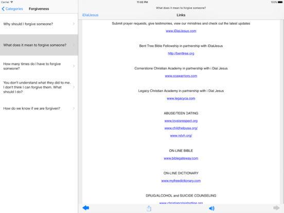 iDialJesus iPad Screenshot 2