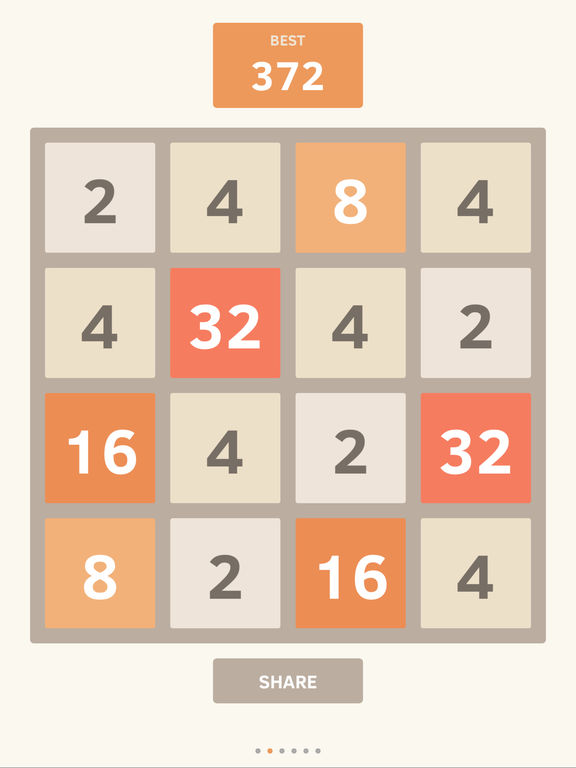 Screenshots of 2048 for iPad