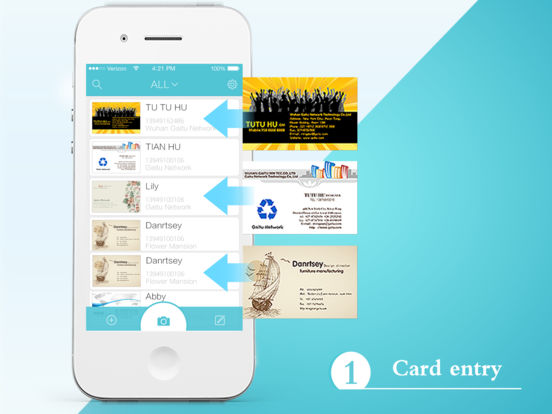 FoxCard pro&business card reader&visiting card名片识别 Screenshots