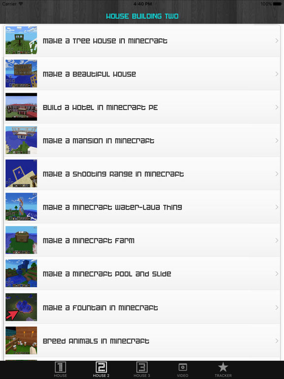 House Tips and Cheats Guide for Minecraft screenshot