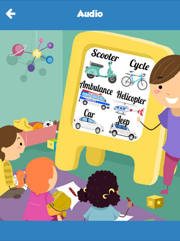 vehicles learning for kids using flashcards and sounds