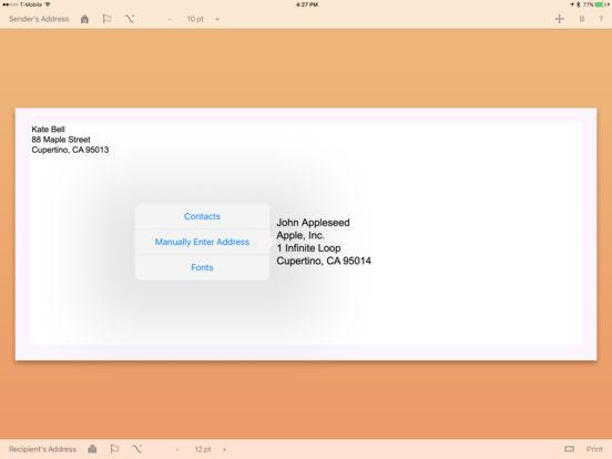Envelope Maker iPad Screenshot 3