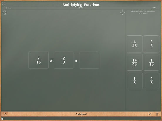 MathBoard Fractions Screenshots