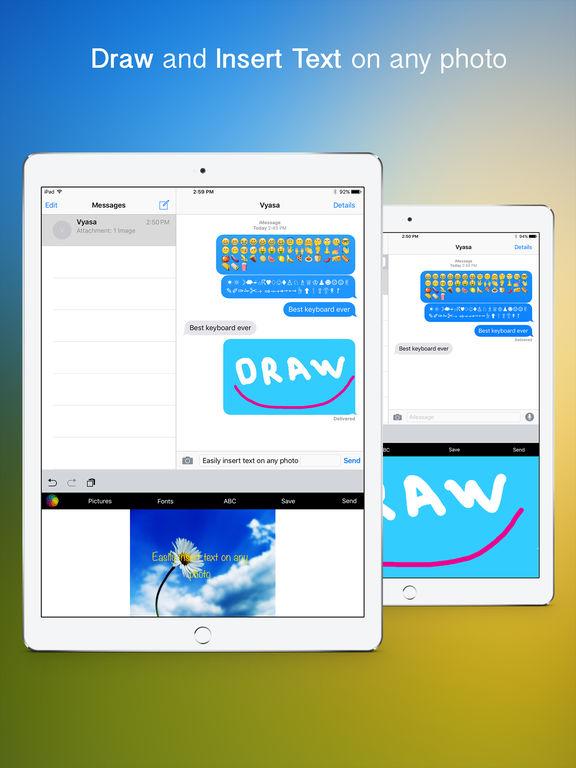 VideoKeys Keyboard - Set any video background and use symbols,fonts and new emoji Screenshots