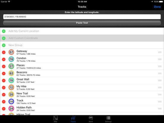 SMS a GPS iPad Screenshot 2