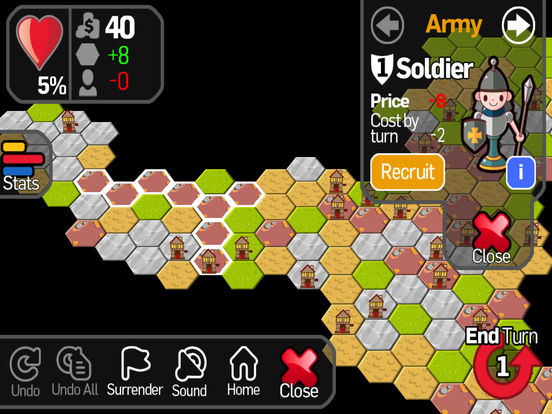 Strategy War - A board game where you command your army like a game of chess and risk it all to conquer the world iPad Screenshot 1