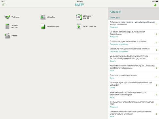 DATEV iPad Screenshot 1