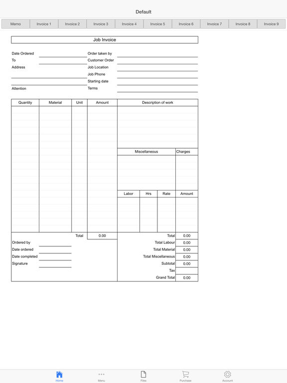Sales Invoice Screenshots