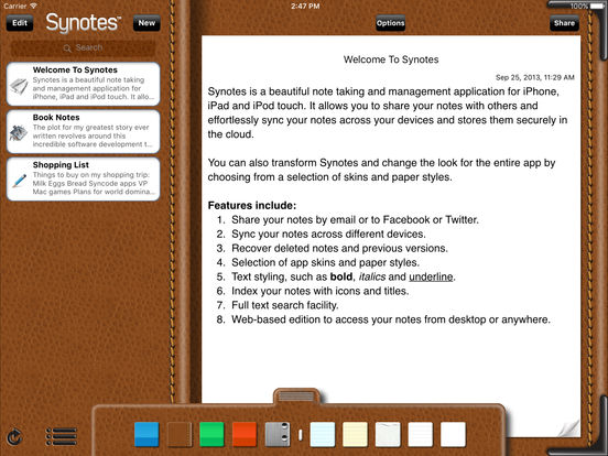 Synotes Mobile iPad Screenshot 4