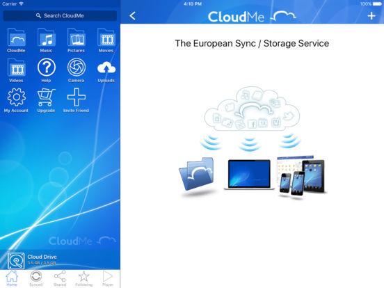 CloudMe iPad Screenshot 1